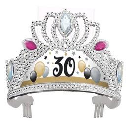 30-as Számos Szülinapi Elegáns Léggömbös Ékköves Tiara