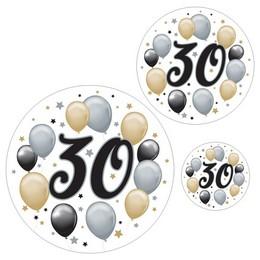 30-as Számos Szülinapi Elegáns Matrica Csomag