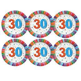 30-as Szülinapi Csillagos Parti Tányér