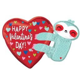 Happy Valentine's Day Lajhár Héliumos Fólia Lufi, 76 cm