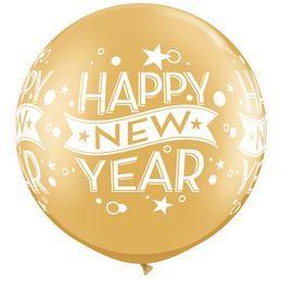 30 inch-es New Year Confetti Dots Wrap Gold Szilveszteri Lufi (2 db/csomag)