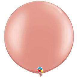 30 inch-es Rózsaarany - Rose Gold Kerek Latex Lufi (2 db/csomag)