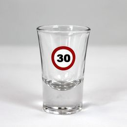30-as Sebességkorlátozó Szülinapi Feles Üvegpohár