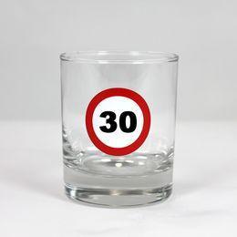 Sebességkorlátozó Szülinapi Whiskey-s Üvegpohár - 30-as