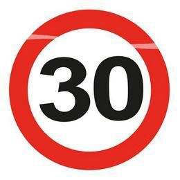 30-es Sebességkorlátozó Szülinapi Világító Kitűző