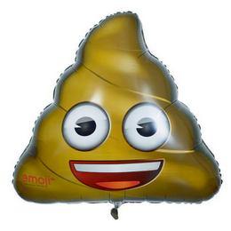 32 inch-es Emoji - Kaki Héliumos Fólia Lufi