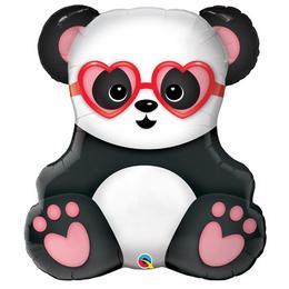 Panda Maci Szerelmes Super Shape Héliumos Fólia Lufi, 81 cm