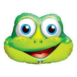 32 inch-es Funny Frog Super Shape Héliumos Fólia Lufi
