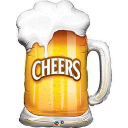 35 inch-es Cheers! Beer Mug Héliumos Fólia Lufi