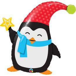 Aranyos - Huncut Pingvin Héliumos Fólia Lufi, 89 cm