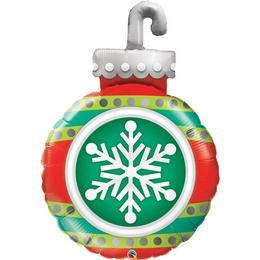 Gömb Karácsonyfadísz Alakú Karácsonyi Héliumos Fólia Lufi, 89 cm