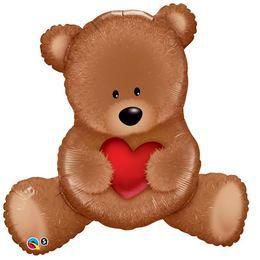35 inch-es Teddy Bear Szerelmes Super Shape Héliumos Fólia Lufi