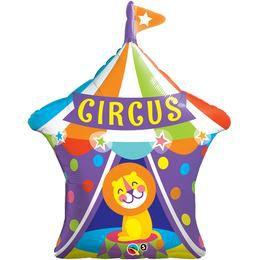 36 inch-es Big Top Circus Lion - Cirkuszi Oroszlán Super Shape Héliumos Fólia Lufi, 9