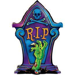 36 inch-es R.I.P. Tombstone - Sírkő Mintás Fólia Lufi Halloweenre