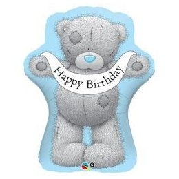 36 inch-es Tatty Teddy Birthday Banner Héliumos Fólia Lufi