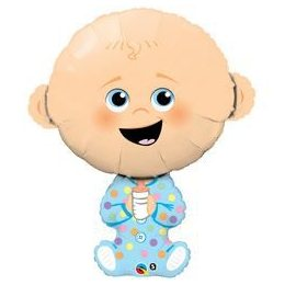 38 inch-es Baby Boy - Kisfiús Baba Héliumos Fólia Lufi Babaszületésre