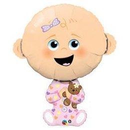 38 inch-es Baby Girl - Kislányos Baba Héliumos Fólia Lufi Babaszületésre