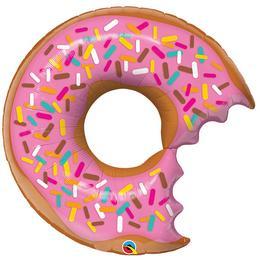 38 inch-es Bit Donut & Sprinkles - Eper Fánk Alakú Super Shape Fólia Lufi
