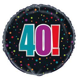 18 inch-es 40-es Birthday Cheer Héliumos Fólia Lufi Szülinapra