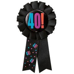 40-es Birthday Cheer Szülinapi Parti Kitűző