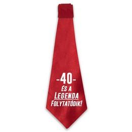 40 és a Legenda Folytatódik! Születésnapi Nyakkendő