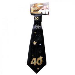 40-es Arany Fekete Csillagos Szülinapi Nyakkendő