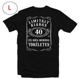 40-es Limitált Kiadás Számos Szülinapi Póló, L-es
