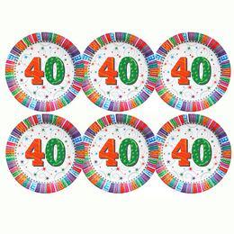 40-es Szülinapi Csillagos Parti Tányér