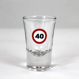 40-es Számos Sebességkorlátozó Szülinapi Feles Üvegpohár