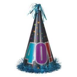 40-es Birthday Cheer Születésnapi Parti Nagy Papír Csákó
