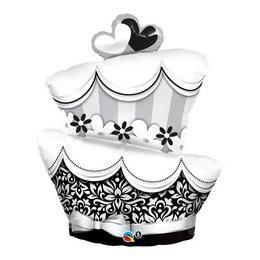 41 inch-es Fun & Fabulous Wedding Cake Esküvői Héliumos Fólia Lufi