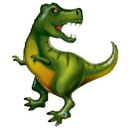 Tyrannosaurus Formájú Super Shape Fólia Lufi, 107 cm