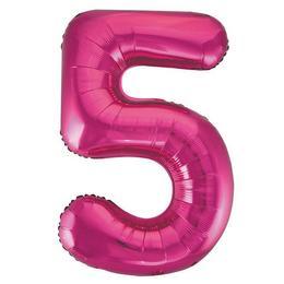 34 inch-es 5 Rózsaszín - Pink Számos Super Shape Fólia Lufi