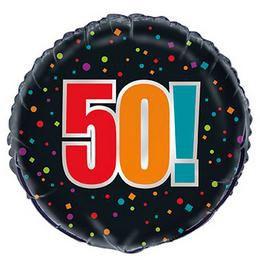 18 inch-es 50-es Birthday Cheer Héliumos Fólia Lufi Szülinapra