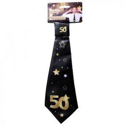 50-es Arany Fekete Csillagos Szülinapi Nyakkendő