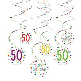 50-es Konfetti Mintás Spirális Dekoráció
