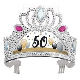 50-es Számos Szülinapi Elegáns Léggömbös Ékköves Tiara