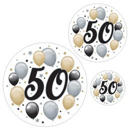 50-es Számos Szülinapi Elegáns Matrica Csomag