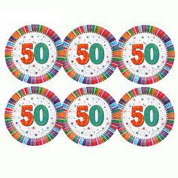 50-es Szülinapi Csillagos Parti Tányér