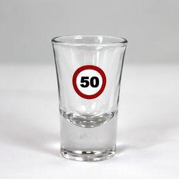 50-es Számos Sebességkorlátozó Szülinapi Feles Üvegpohár