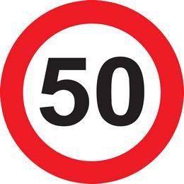 50-es Közlekedési Sebességkorlátozó Tábla Szülinapra