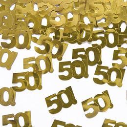 Arany konfetti 50. születésnapra az igazán stílusos partiért