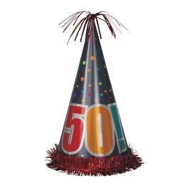 50-es Birthday Cheer Születésnapi Parti Nagy Papír Csákó