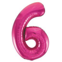 6-os Pink Számos Héliumos Fólia Lufi, 86 cm