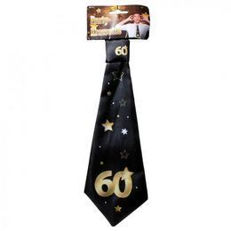60. Szülinapi Számos Arany Fekete Csillagos Nyakkendő