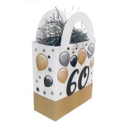 60-as Elegáns Léggömbös Szülinapi Ajándéktasak Léggömbsúly - 120 gramm