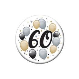 60-as Elegáns Léggömbös Szülinapi Kitűző