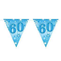 60-as Kék Sparkle Parti Zászlófüzér - 360 cm