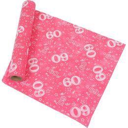 60-as Pink Szülinapi Asztali Futó