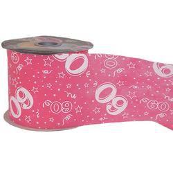 60-as Pink Szülinapi Dekorációs Szalag, 12,5 cm, 50 méteres